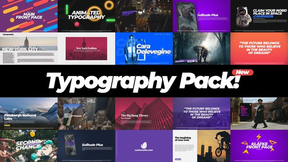 Videohive Typography Pack 22386437