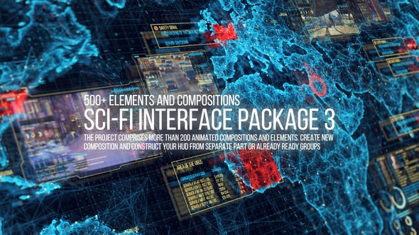 Videohive Sci-fi Interface HUD Package 3 22236281