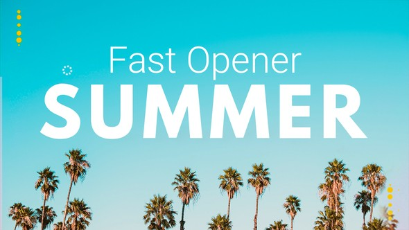 Videohive Summer Fast Opener 22036346