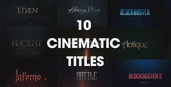 Videohive 10 Cinematic Titles 20164595