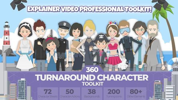 Videohive 360 Turnaround Character Toolkit 22379360