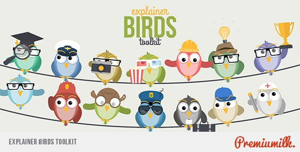 Videohive Explainer Birds Toolkit 11365647