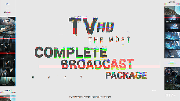 Videohive Videohive Glitch TV Complete Broadcast Graphics Package 20820835