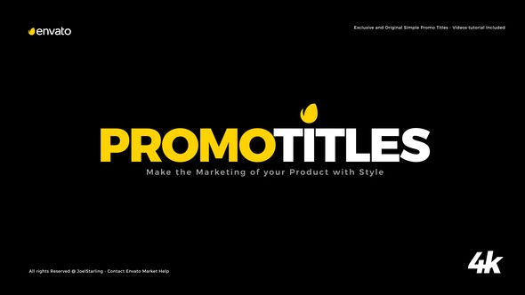 Videohive Simple Promo Titles Package 22451056