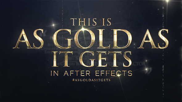 Videohive As Gold As It Gets - Awards Broadcast Package 18142844