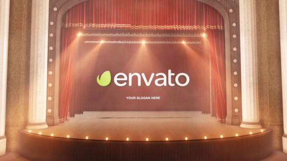 Videohive Theatre Curtain Logo 13079433