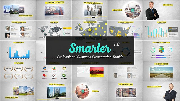 Videohive Smarter - Business Presentation & Infographics Toolkit15403293