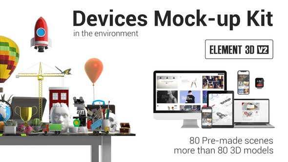 Videohive Devices Mock-up Kit in Environment 21988150