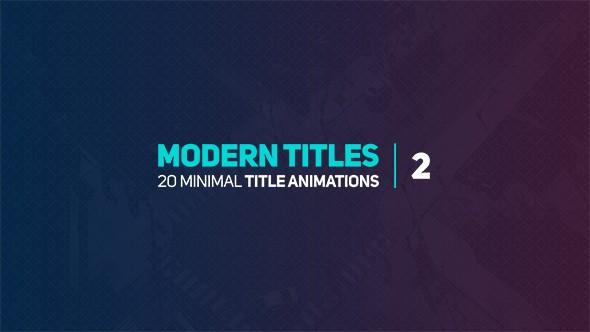 Videohive Modern Titles 2 18072432