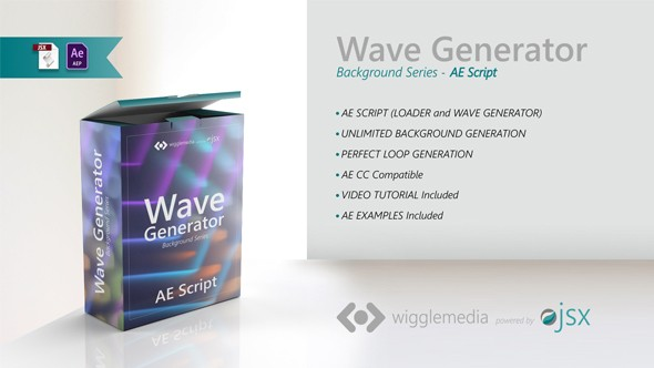 Videohive Background Wave Generator 22016205