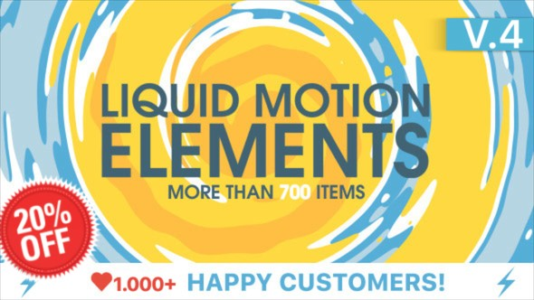 Videohive Liquid Motion Elements V4 15789530