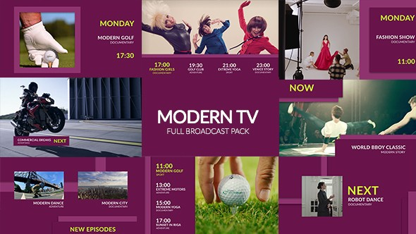 Videohive Modern TV - Fashion Broadcast Pack 18477591