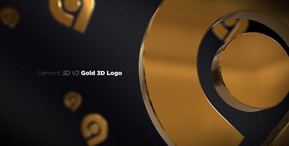 Videohive Gold 3D Logo Opener 20842906