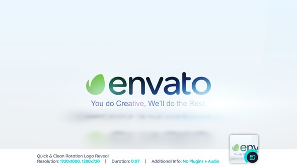 Videohive Quick & Clean Rotation Logo Reveal 22165748
