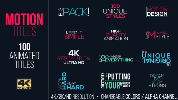 Videohive Motion Titles Pack 15383395