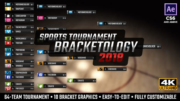 Videohive Bracketology - Sports Tournament Bracket 21488906