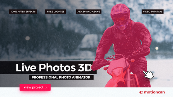 Videohive Live Photos 3D - Professional Photo Animator 20365048
