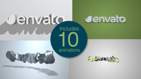 Videohive Quick Clean 3D Logo Pack 9847509