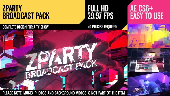 Videohive zParty (Broadcast Pack) 20154129