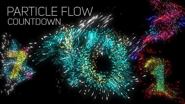 Videohive Particle Flow Countdown 20692236
