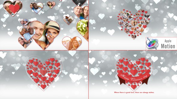 Videohive Romantic Hearts Opener - Apple Motion 22568438