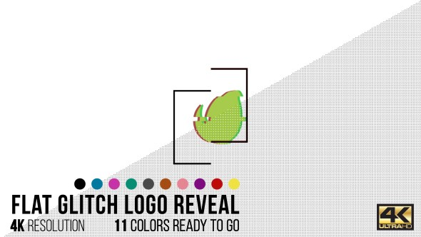 Videohive Flat Glitch Logo Reveal 15573758