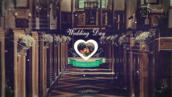 Videohive Wedding Parallax Slideshow 20859467