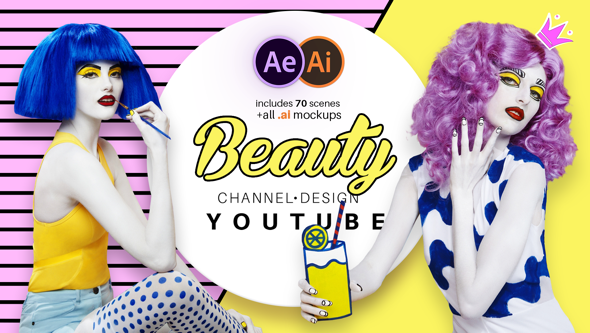 Videohive Beauty Youtube Design Pack 21097856