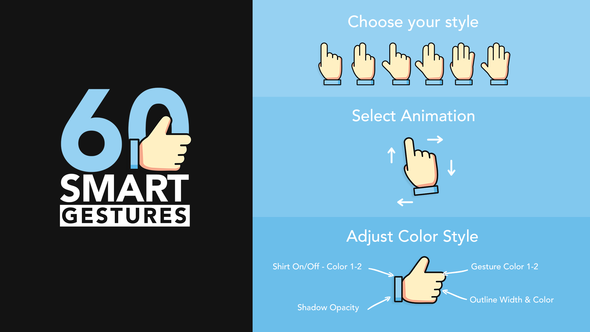 Videohive 60 Smart Gestures 22602829