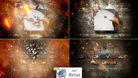 Videohive Cinematic Fire Impact Logo - Apple Motion 22605959