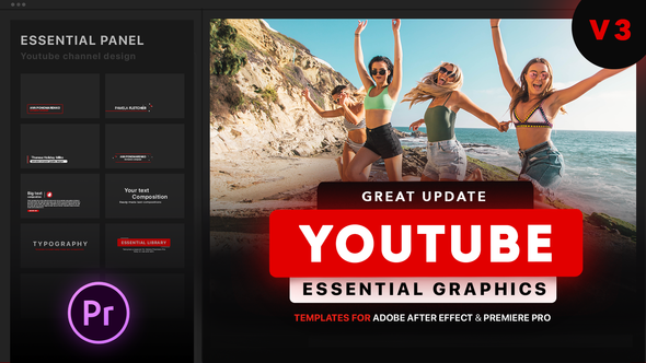 Videohive Youtube Essential Library   MOGRT for Premiere 21655955