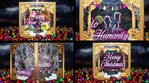 Videohive Christmas and New Year Greetings 19020016