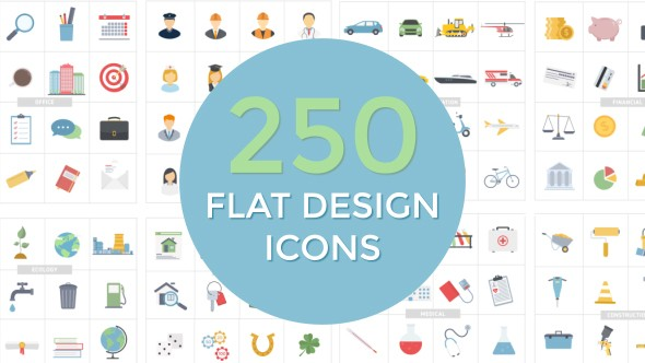 Videohive Flat Design Icons 20552114