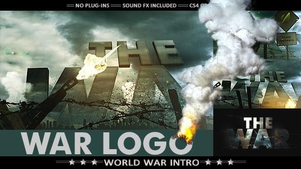 Videohive War Logo Opener - Realistic Military Intro 7725040