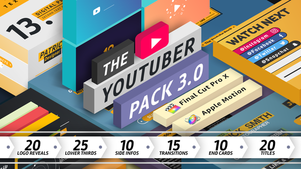 Videohive The YouTuber Pack 3.0 Final Cut Pro X 19539344