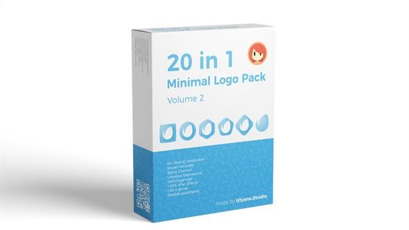 Videohive 20 in 1 Minimal Logo Pack (vol.2) 22062270