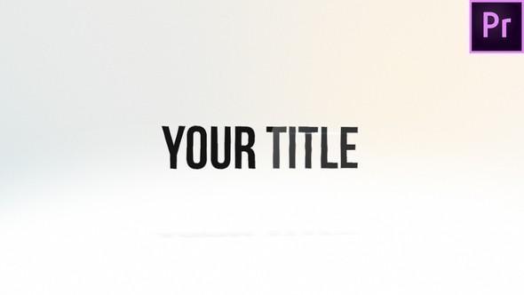 Videohive Elegant Contour Title 22714086