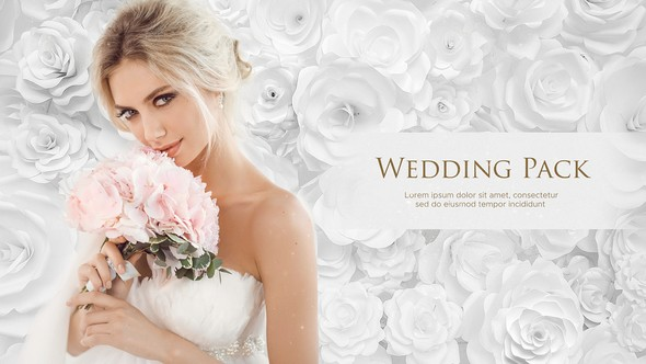 Videohive Wedding Pack - White Roses 21953897