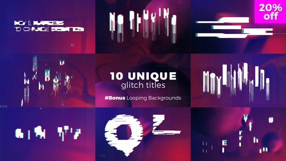 Videohive Glitch Titles Sequence 22272117