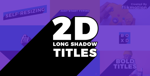 Videohive Long Shadow Titles 21340659