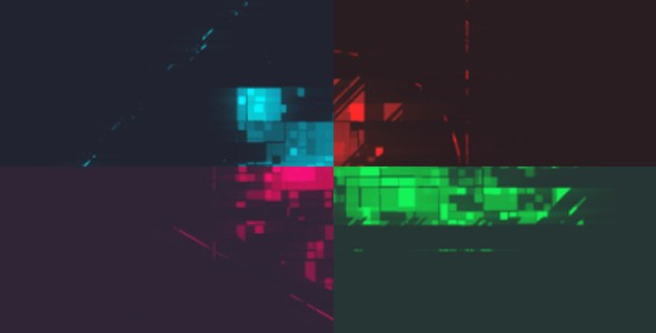 Videohive Pixelated Logo Reveal 12761063
