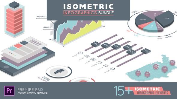 Videohive Isometric Infographics Bundle Premiere Pro 22543039