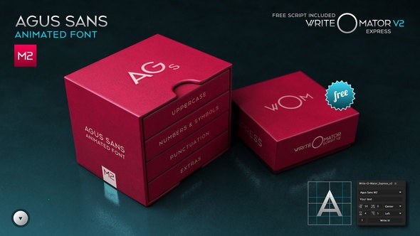 Videohive Agus Sans / M2 - Animated Font 20579787