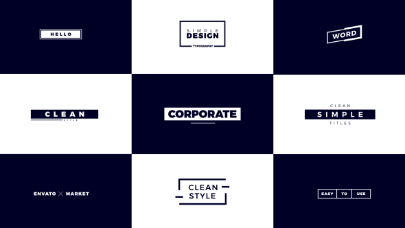 Videohive Corporate Titles 21458514