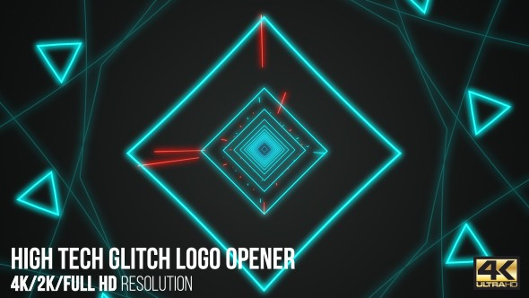 Videohive High Tech Glitch Logo Opener 15965331