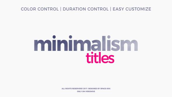 Videohive Minimalism 20413807