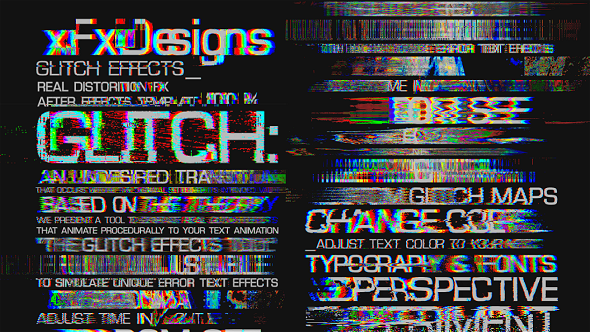 Videohive Glitch Text Effects Toolkit + 30 Title Animation Presets 15435003