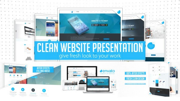 Videohive Clean Website Presentation 2 in 1 10941864