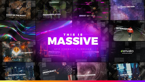 Videohive Massive - Epic Cinematic Slideshow 22111031