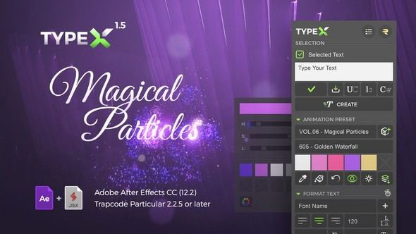 Videohive TypeX - Text Animation Tool | Magical Particles Pack: Handwritten Calligraphy Titles 21797162 v1.5.1